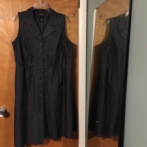 Lane Bryant jean sheath dress with collar